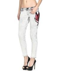 23425e7497d Guess dámské šedé džíny s nášivkami