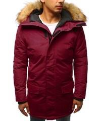 BASIC Pánská bordó zimní bunda s kožichem (tx2439) c1277e9b4f