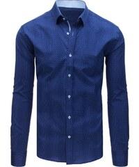 b476f0b9642 BASIC Elegantní modrá košile s puntíky (dx1583)