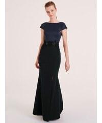 heine TIMELESS Večerné šaty s čipkou čierna-tmavomodrá f9af69f7763