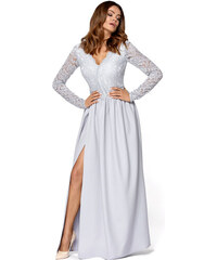 bbdf95d144d KARTES Plesové šaty Fanfára šedé