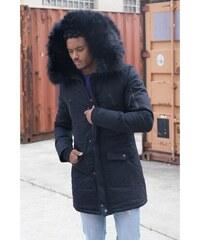 Pánska čierna bunda na zimu Sixth June Big Fur Parka 5c77f881319