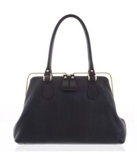 210f9fd7ff Retro luxusní dámská kožená kabelka černá - ItalY Maty černá - Glami.cz
