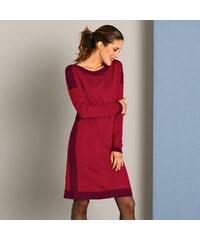 Blancheporte Pletené šaty s lodičkovým výstřihem červená 61c03eed30