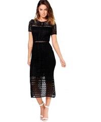 5d492f9d709 BOOHOO Midi šaty s háčkovanou krajkou