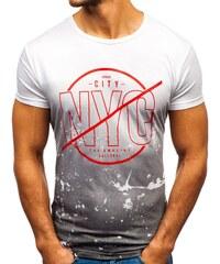 458ca5f380 Férfi póló mintával fehér színben a Bolftól KY36