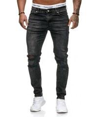KC-BLACK Pánské roztrhané džíny slim fit RJ-5125 bd63f8bc5c