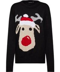 822e5ac3c49 Boohoo Svetr  Sasha Reindeer Christmas Jumper  černá