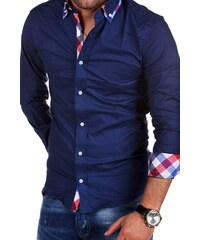 Pánská košile Behype Slim Fit Kontrast BH-303 ede2dcc0d2