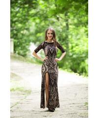 Adria Společenské dlouhé šaty EMA černá 9354e9e13f