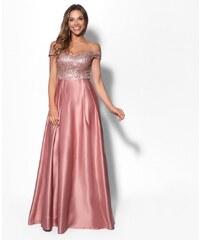 EVA   LOLA Společenské šaty AURÉLINE růžové 085b726e50