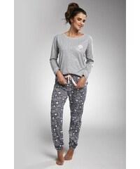 Cornette Dámské pyžamo Dreaming šedá c1ee81193f