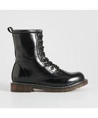 Sinsay - Šnurovacie členkové topánky - Čierna 344717ecda5