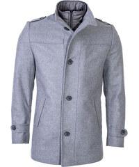 Zapana Pánsky spoločenský vlnený kabát Ronnie šedý 062069f0329