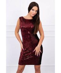 441672ebbb4b Flitrované šaty bordové