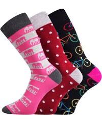 Lonka 3 pack dámských ponožek Elin barevná 3bb6f94d07