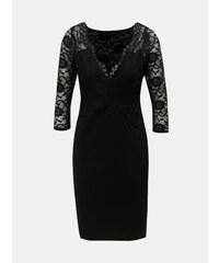 Čierne puzdrové šaty s čipkovanými detailmi Dorothy Perkins cfc88ea1cae