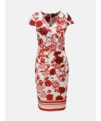 Červeno–krémové puzdrové kvetované šaty Dorothy Perkins ac8406d4105