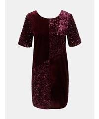 Vínové zamatové flitrované šaty Dorothy Perkins 60da00a2cce