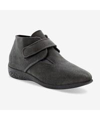 Blancheporte Kotníkové boty na suchý zip šedá d97bbe44ec