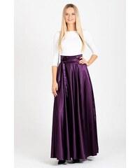 Fialové saténové šaty - Glami.cz 75712a4e01