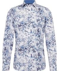OLYMP Košile  Level 5 City Print floral  modrá   bílá 80283eeef7