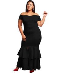 NoName Dámské společenské šaty pro plnoštíhlé s odhalenými rameny XL 8663deeecd