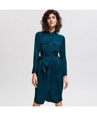 c8a198b6b9c Reserved - Košilové šaty z viskózy - Khaki