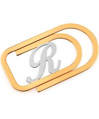 iZlato Forever Zlatá spona na peniaze s iniciálom podľa želania IZ17350 faa52062605