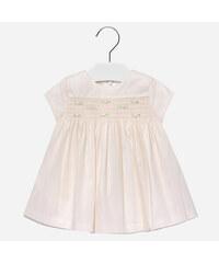 Šaty s růžičkami tylové smetanové BABY Mayoral 5f422d6d54