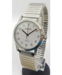 20f89aa952c Přehledné čitelné dámské hodinky Foibos 1931 s pružným natahovacím páskem