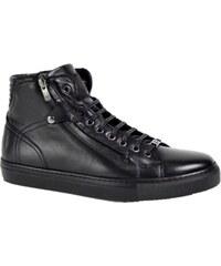 ROBERTO SERPENTINI Nero pánske členkové topánky oteplené c0cd23a6522
