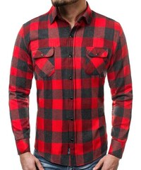 OZONEE ZAZ 1318 Pánská Košile Červeno-Černá. 409 Kč c16c1725c0