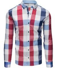 Manstyle Stílusú férfi ing csíkos kék-fehér-piros 850c12c876