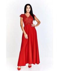 75880b21be8 Červené společenské šaty s vyšívaným živůtkem Bosca Fashion Laura