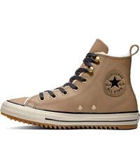 Converse Dámské hnědé vysoké kožené tenisky Chuck Taylor All Star Hiker Boot 215489acb8