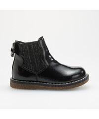 Reserved - Lakované členkové topánky s elastickými bokmi - Čierna a501af9d1b
