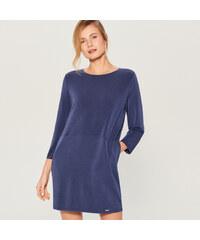 Mohito - Oversize šaty s kapsami - Modrá ea11b5cee7c