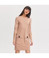 8ee4f9e831c Reserved - Úpletové šaty - Béžová