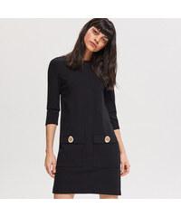02f18103135e Reserved - Úpletové šaty - Čierna
