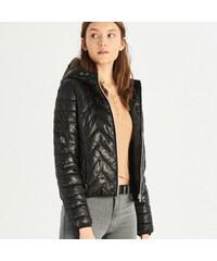 Sinsay - Prešívaná bunda s kapucňou - Čierna b0f9feb098b