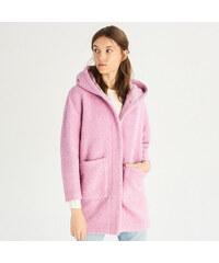 Sinsay - Vlnený kabát - Purpurová fafc401926b