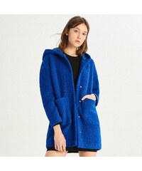 Sinsay - Vlnený kabát - Modrá 5a79eb6fb5f