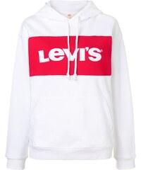 Levi s logo embroidered hoodie - White eb8e86538f