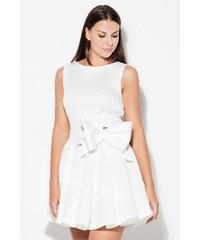 Perfect Roztomilé krátké šaty na ramínka s velkou mašlí v pase ec08c3c115