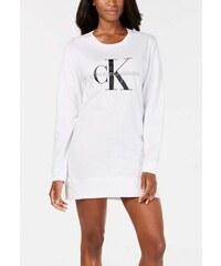 Calvin Klein noční košile s rukávy monogram white 2e6f78fd6f