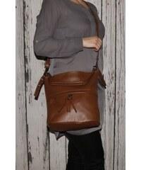 Talianske dámske crossbody kožené kabelky Vera Pelle hnedé Angola add06962730
