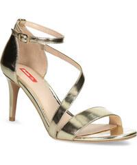 476f7845759b Bata Red Label Zlaté sandále na ihličkovom podpätku
