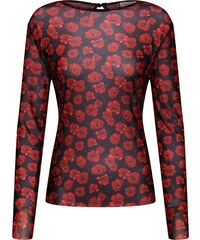 JACQUELINE De YONG Tričko červená   černá 6f926db4c7