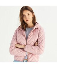 Sinsay - Prešívaná bunda s kapucňou - Ružová 9afded2eb24